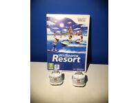 Wii Sports Resort Game + 2 wii MotionPlus accessory.