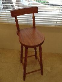 Vintage Oak children's stool