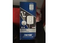 NEW Triton Enrich Electric Shower 8.5Kw White