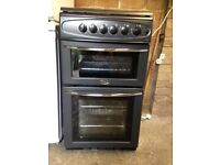 Belling Black cooker and hob - Excellent condition