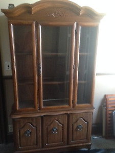 MOVING, MUST SELL, REDUCED PRICE - VINTAGE SEARS CHINA CABINET