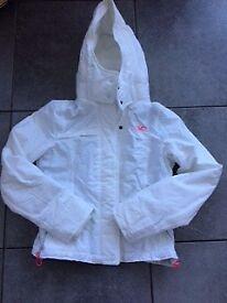 Ladies white Hollister winter jacket. Size medium