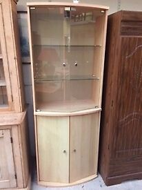 Beech coloured display unit at Cambridge Re-Use (reuse)