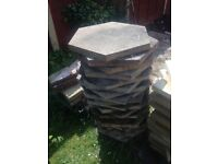 25 Hexagonal patio slabs