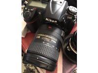 Nikon D300 DSLR + other nikon kit (AF-S 18-200mm & vintage 1970s Nikon 24mm lens, SB-800 flash)