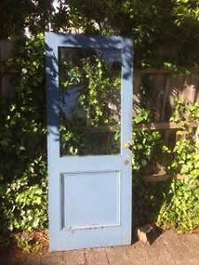 Solid timber door with glass panel intact 2020 X width 805 West Footscray Maribyrnong Area Preview