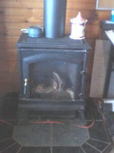For sale: Jefferson D.V. R. Woodstove look-alike gas stove.