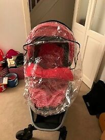 Mothercare Xpedior, Black + Red Stripe Colour Pack - used but in excellent condition