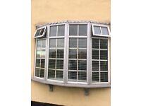 11 white double glazed Georgian style window units