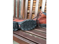 Redwing Safety Lace up Boots Size 8 Uk