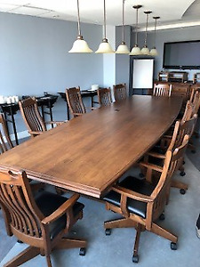 Solid Oak Office Furniture For Sale