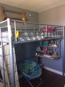 Metallic loft bed Cambridge Kitchener Area image 1