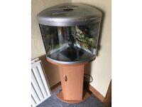 corner unit fish tank