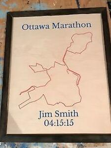 Personalized Commemorative Marathon Maps