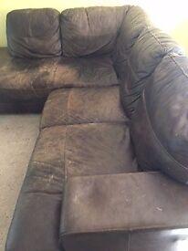Well used but still plenty of life left in it large corner sofa