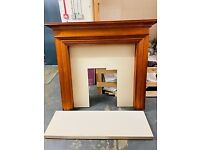 ELECTRIC FIRE SURROUND AND HEARTH