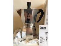 BIALETTi 6 Cup moka express, New Unused