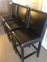 Faux leather bar stools - ready for your breakfast bar