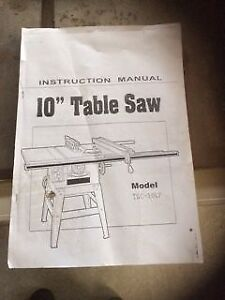"""10"""" table saw for sale"""
