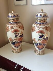 Pair of Exquisite Chinese Ornamental Vases