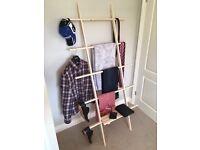 Clothes Ladder - custom made by craftsman. Brilliant bedroom storage.