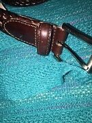 FOSSIL LEATHER BELT 100% WEAVED LEATHER BRAND NEW Kingsford Eastern Suburbs Preview
