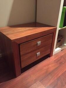 2 x quality timber bedside tables Carlton Melbourne City Preview
