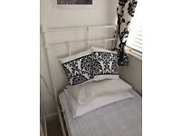 Two single beds - white Victorian/Retro style frames