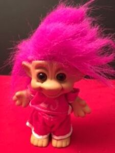 Vintage Forest IMM Troll Pink Hair, Pink outfit #23