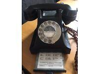 Black Bakelite Phone