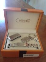 Brand New Silver Mens gift set