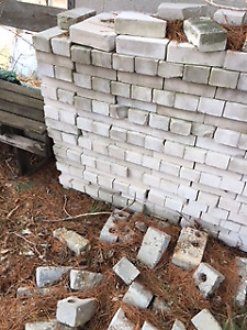 grey paving bricks apporx 100 @ $1.00 each