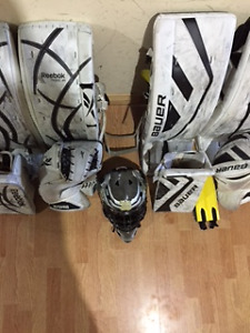 Reebok Revoke Goalie set\Bauer Supreme One.9 Goalie set