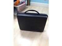 black samsonite briefcase
