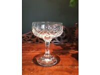 Champagne Coupe Cut Crystal Glasses