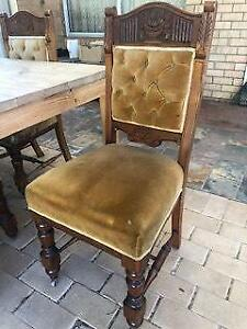 Antique dining chairs x 6