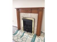 Fire Surround, Electric Fire and Marble Back