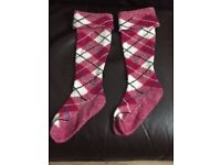 Canadian Fuchsia McKellar Highland dance socks.