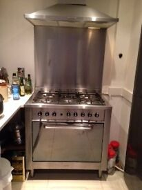 INDESIT Range Style dual Fuel Cooker KP9508E(X)Great hob/poor oven. No delivery available
