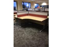 1.8 Meter Maple Radial Desk