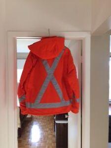 Manteau de travail orange Saint-Hyacinthe Québec image 2