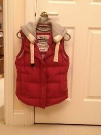 Superdry Academy Gilet, Red and Grey