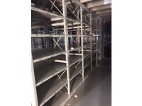 JOB LOT 5 bays of LINK industrial shelving 2.1m high AS NEW ( storage , pallet racking )