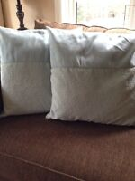 Two Sets of Throw Pillows