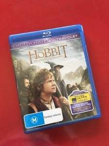 The Hobbit blue ray, DVD and Ultra Violet 3 disc set Summer Hill Ashfield Area Preview
