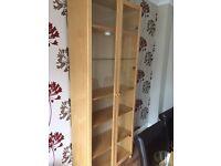 Bookcase with glass doors - Ikea Billy Bookcase in Birch Veneer