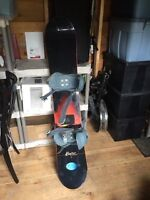 Snowboard and snowboarding boots for sale!
