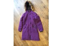 Genuine Canada Goose Brittania Goose Down Coat - Purple - 14-16 Years (youth large) like new
