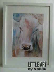 New framed digital print of Cow