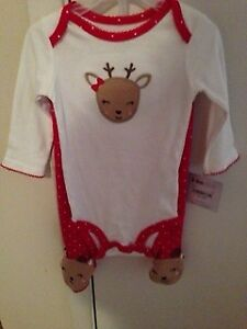 New Baby  Girl's Christmas Outfit